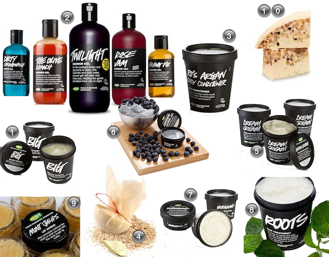 Top 10 Lush Products Source: all images from lush.co.uk