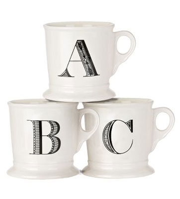Anthropologie Monogrammed Mugs Source: Anthropologie